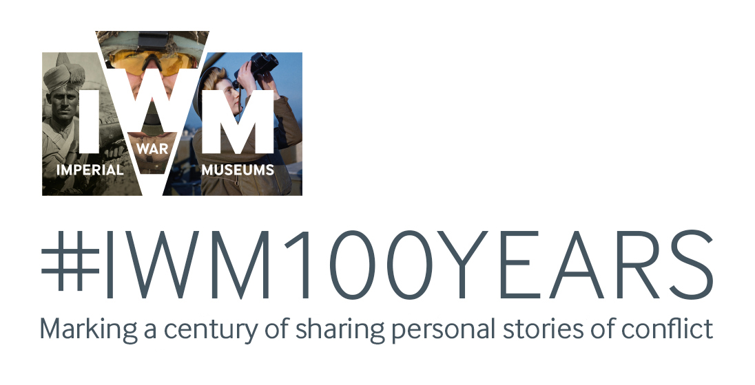 IWM Centenary logo #IWM100YEARS Making a century of sharing personal stories of conflict